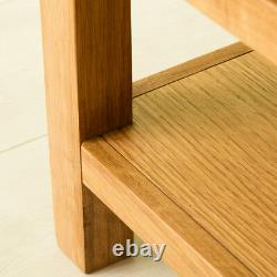 Abbey Waxed Oak Side Lamp Table Small End Solid Wood Table with Storage Drawer
