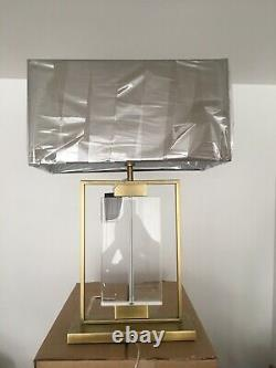 BNIB RV Astley Ryston Antique Large Brass And Glass Table Lamp With Shade