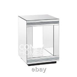Biarritz Mirrored Crystal Lamp Table FREE DELIVERY