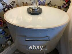 Brand New Kelly Hoppen Diaz Putty drawer side chest Lamp Table rrp £1250 3 avail