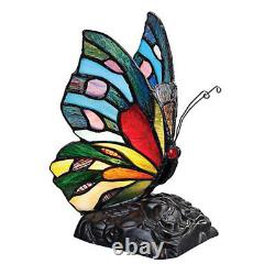Butterfly Tiffany Style Handmade Glass Table / Desk Lamps Christmas Gift
