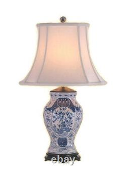 Chinese Blue and White Porcelain Vase Chinoiserie Floral Table Lamp 28