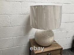 Cox And Cox Glazed Dots White Bobble Table Lamp RRP225 Can Deliver