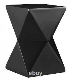 Display Stand Lamp Table Side End Table Black Gloss Square Top Fibre Glass Retro