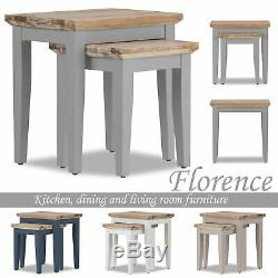 Florence Nest of Tables. Set of 2 sofa tables, wooden lamp tables. FULLY ASSEMBLED