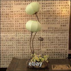 Green Yellow Paper Ball Art Shade Lantern Bedside Accent Table Floor Touch Lamp