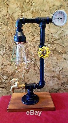 Handcrafted Industrial style Home, Desk, table lamp, steampunk, home decor, lighting