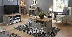 Lancaster Coffee Table Lamp Table Tv Stand Cabinet Sideboard Console Table Grey