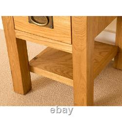 Lanner Oak Small Lamp Table with Drawer Solid Wooden Side End Sofa Coffee Table