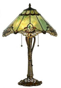 Large Tiffany Style Table Lamp 18 inch wide