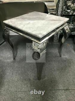 Louis console Table with Grey Solid Marble Top and lamp table