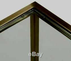 Luxury Vintage Brass Tempered Glass Top Nests of tables -Set of 2 lamp end Table