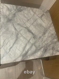 Marble Lamp Table Side Table Available In Grey Or White