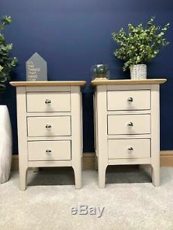 Matching Pair Of Bergen Bedside Cabinets / Painted Lamp Tables / Scandi Style