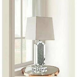 Mirror Crushed Crystal Diamond Table Lamp Shade Not Included