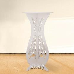 Modern Round Side Table Beside Tea Coffee Lamp Plant Stand White Furniture 60CM