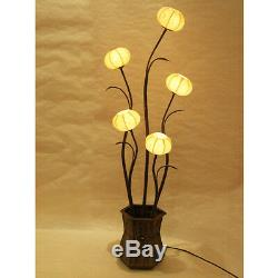 Mulberry Yellow Paper Ball Art Shade Lantern Asian Table Floor Touch Light Lamp