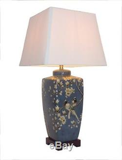 NOW £40 OFF Oriental Ceramic Porcelain Table Lamp (M10014) Chinese Mandarin