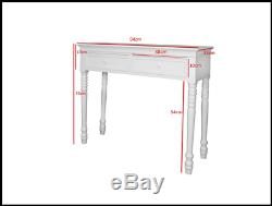 Narrow Console Desk Dressing Table Hallway Drawers Shelf White Lamp Wooden Hall