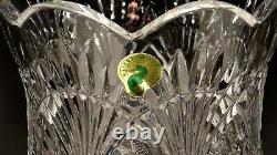 New Waterford Crystal Seahorse Large Electric Hurricane Lamp