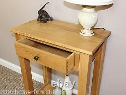 Oak Console Hall Plant Lamp Stand Telephone Table Hallway Living room