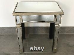 Pair Venetian Mirror Table Side Tables / Bedside Table / Lamp Table End Tables