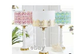 Pottery Barn Lilly Pulitzer Palm Tree Table Lamp NEW IN BOX