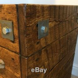 Rustic Solid Wood Side Table, Lamp Table, Bedside Table, Display Table End Table