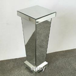 Small Classic Mirror Silver Display Lamp Plant Stand Pedestal Table 60cm H