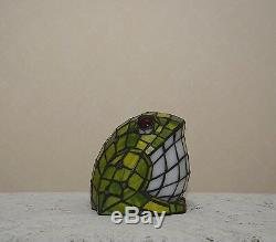Stained Glass Handcrafted Frog Night Light Table Desk Lamp. Cute