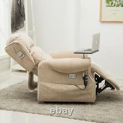 Stanbury dual motor riser recliner chair with table, USB and lamp FREE SET-UP