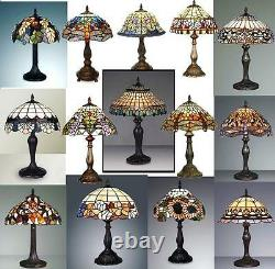 TIFFANY HANDCRAFTED GLASS TABLE LAMP SIZE 12'' INCH WIDE (Ideal Christmas Gift)