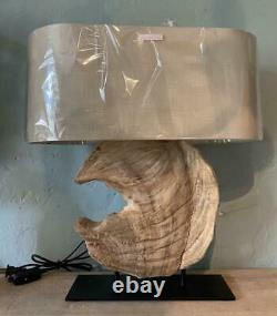 Table / Desk Lamp Natural Wood Driftwood Centrepiece Contemporary Design