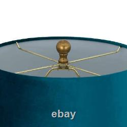 Teal Ananas Glass Table Lamp Pineapple antique gold base large teal blue shade