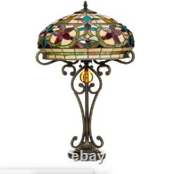 Tiffany Style Handcrafted Floral Table Lamp 16 Shade Handcrafted New