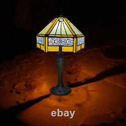 Tiffany Style Table Lamp Stained Glass Handcrafted Bedside Light Desk Lamps UK