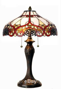Tiffany Table Lamp 100% Genuine Stained Glass (large)