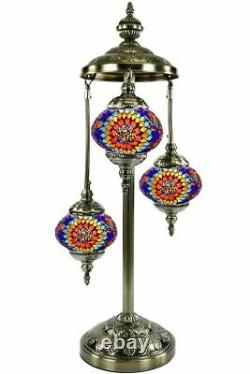 Turkish Moroccan Mosaic Floor Lamp, Hand made Boho-Chic Lamps-Bed, Living room