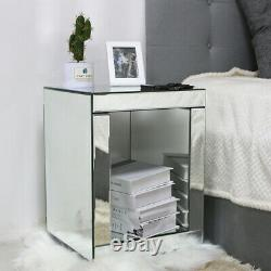 UK Mirrored Glass Living Room Range Console, Lamp, Coffee Table, TV Stand Unit