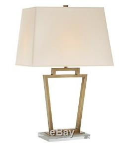 Visual Comfort E. F. Chapman Darlana Open Frame Table Lamp in Antique Brass