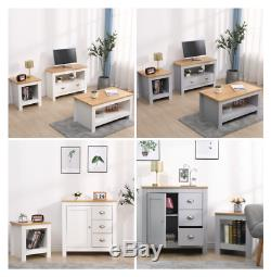 Wooden Living Room Set 3 Piece TV Stand\Coffee Table\Lamp Table Storage Unit